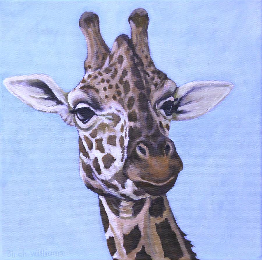 Giraffe Face Painting - Giraffe Eye to Eye by Penny Birch-Williams