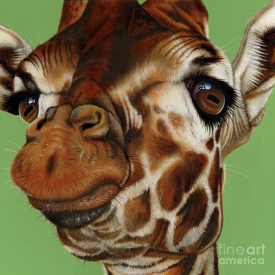 Giraffe Painting By Jurek Zamoyski