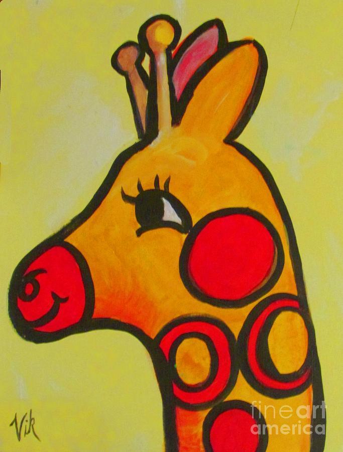 Giraffe Painting - Giraffe by Lyn Vic