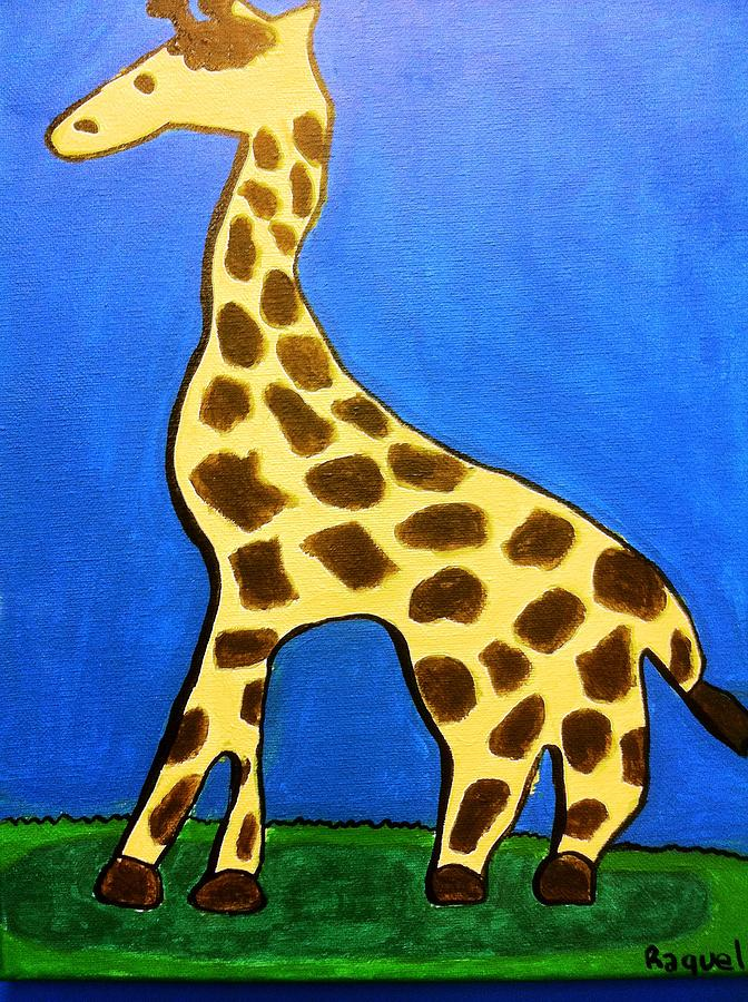 Giraffe Painting by Fred Hanna
