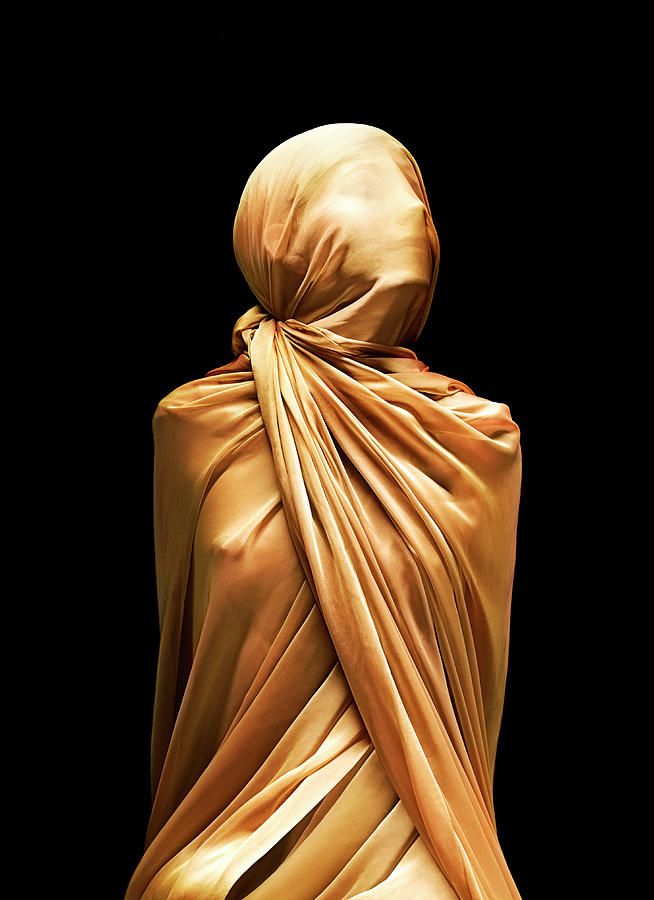 Girl Boundcovered In Silk Photograph by Peter Dazeley