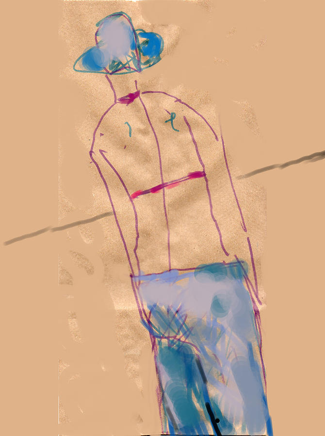 Girl From The Back Drawing by Margie Lee