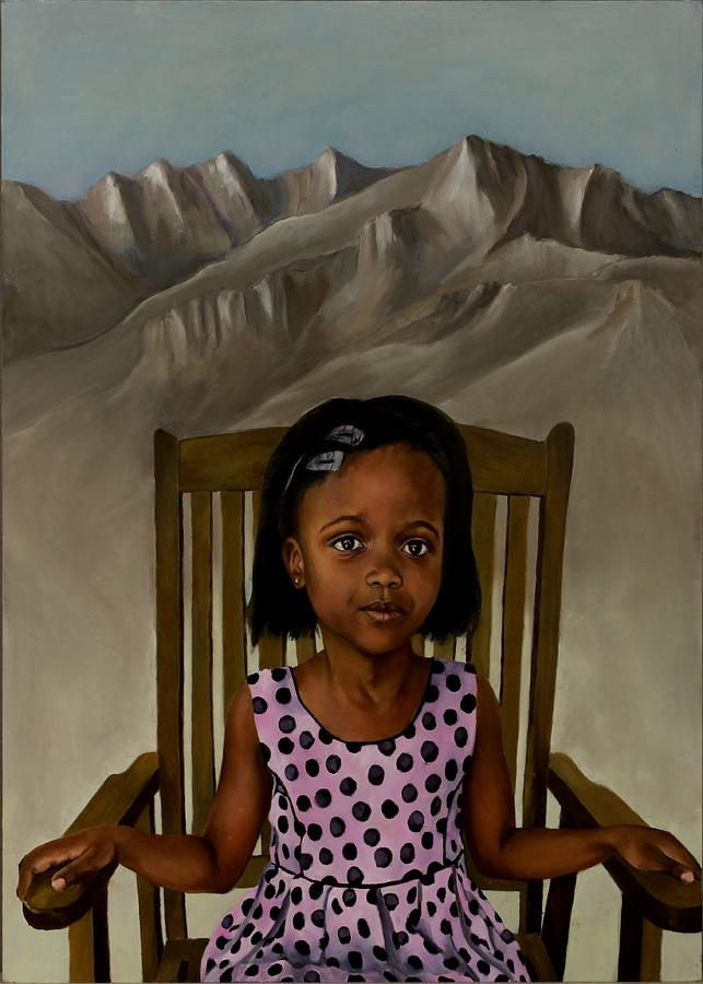Girl Painting - Girl From The Mountain Kingdom by Jolante Hesse