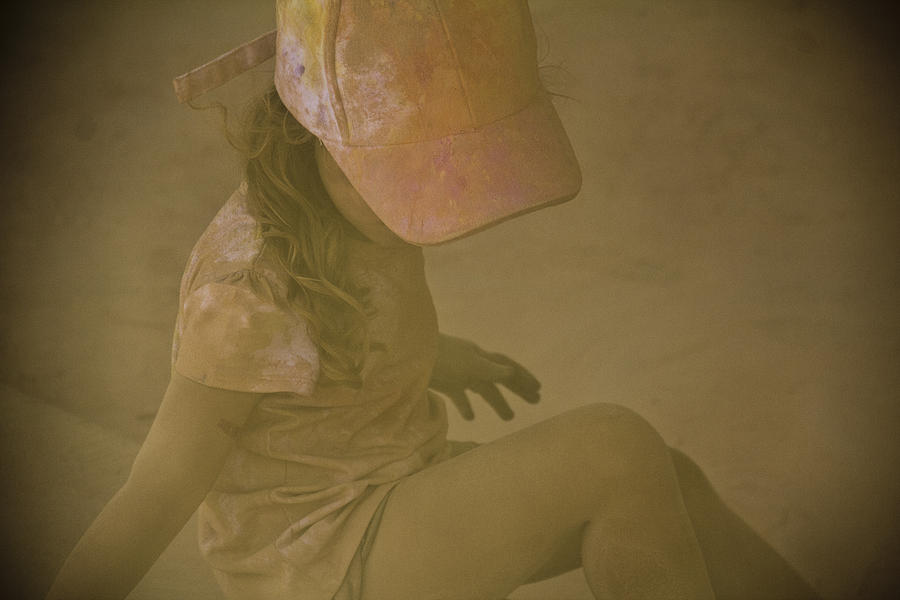 Dust Storm Photograph - Girl In A Dust Storm by Debbie Cundy