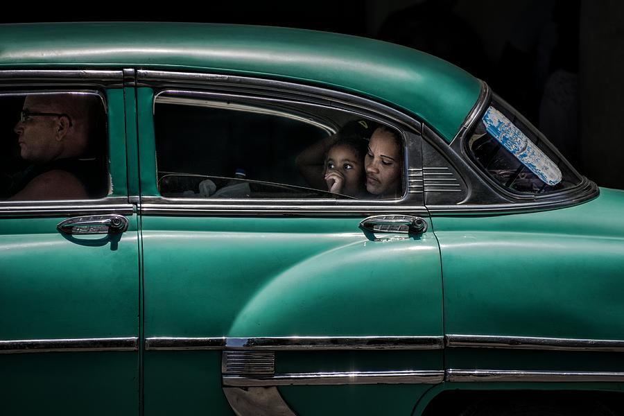 Car Photograph - Girl In Green by Pavol Stranak