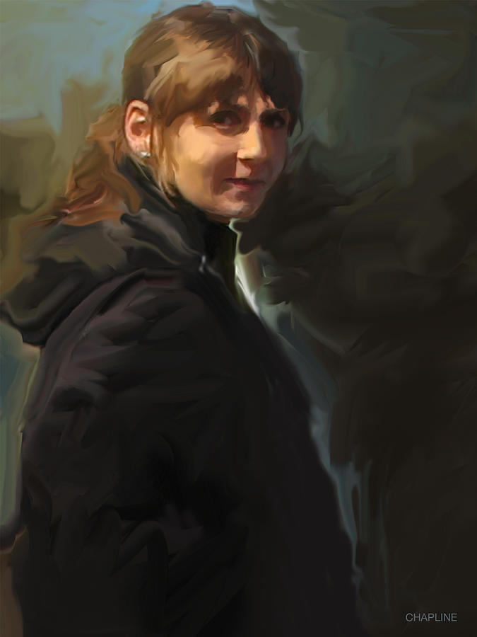 Girl in the Black Coat by Curtis Chapline