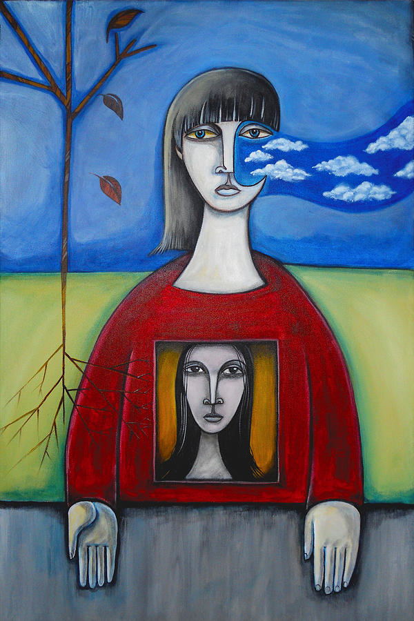 Air Painting - Girl In The Window by Roy Guzman