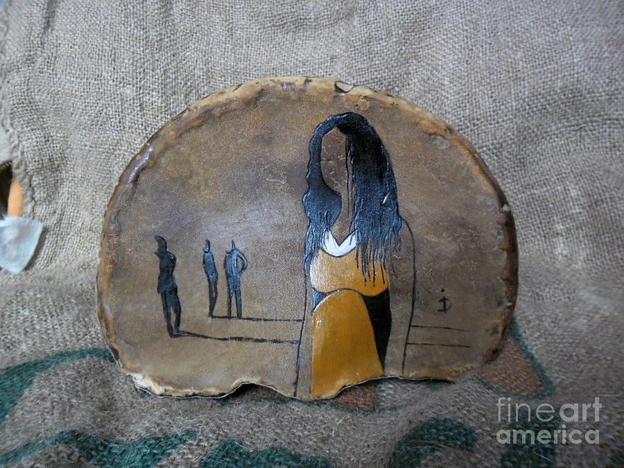 Original Painting - Girl In Yellow by Ildiko Decsei