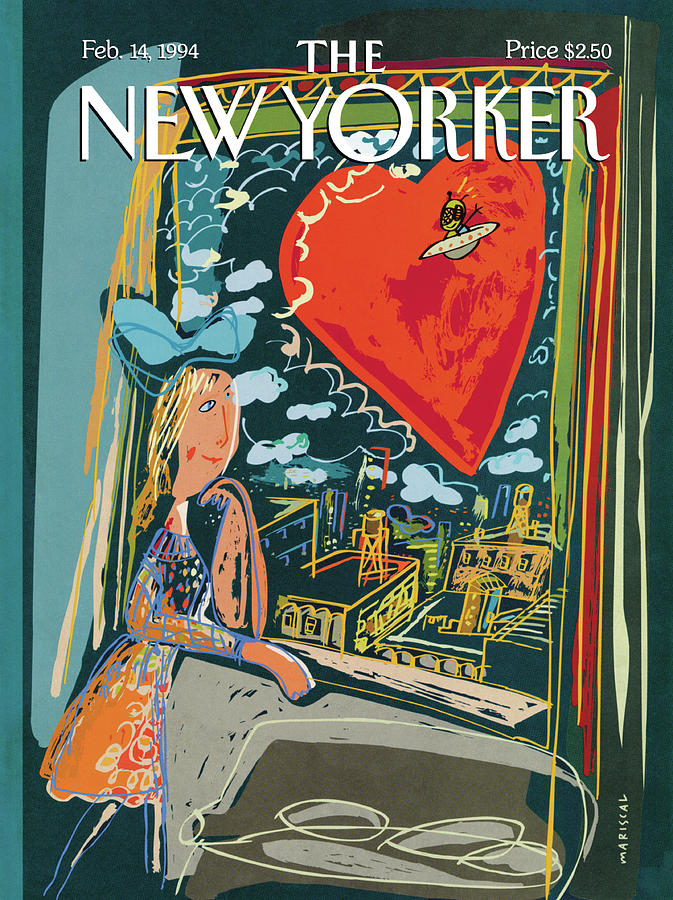 New Yorker February 14th, 1994 Painting by Javier Mariscal