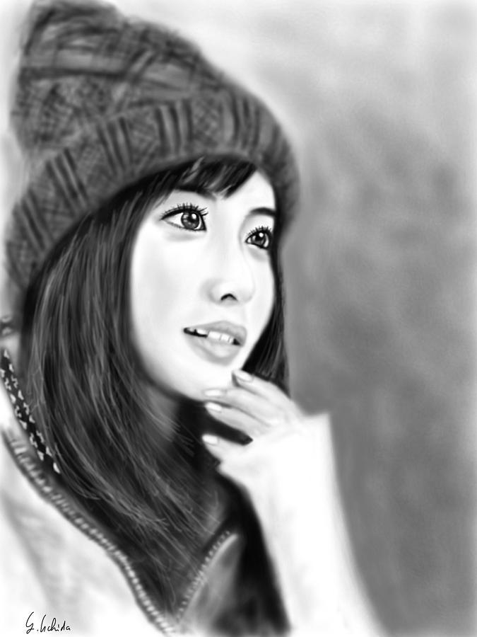 Ipad Painting - Girl No.189 by Yoshiyuki Uchida
