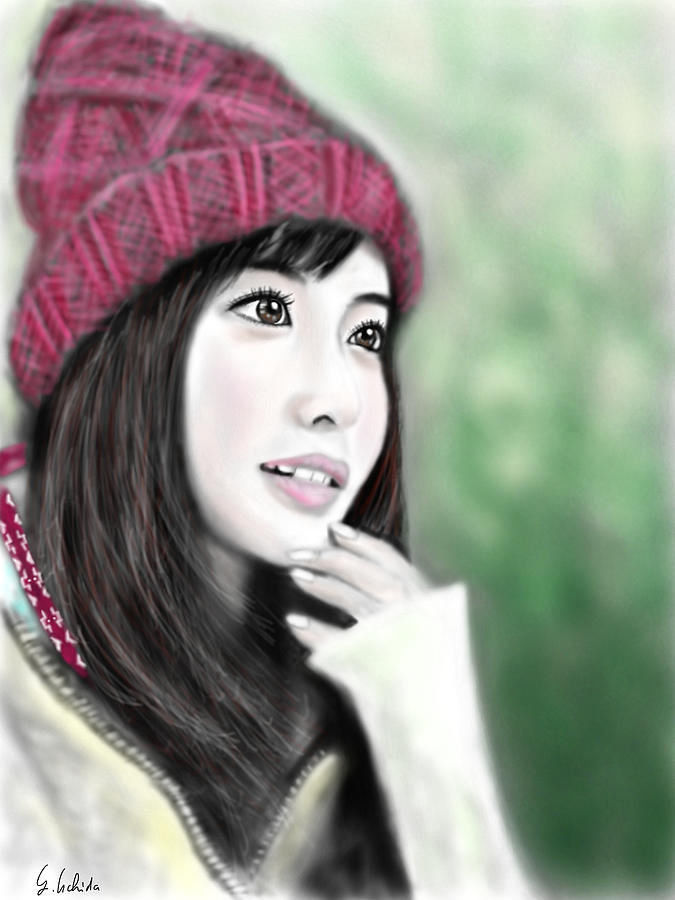 Ipad Painting - Girl No.190 by Yoshiyuki Uchida