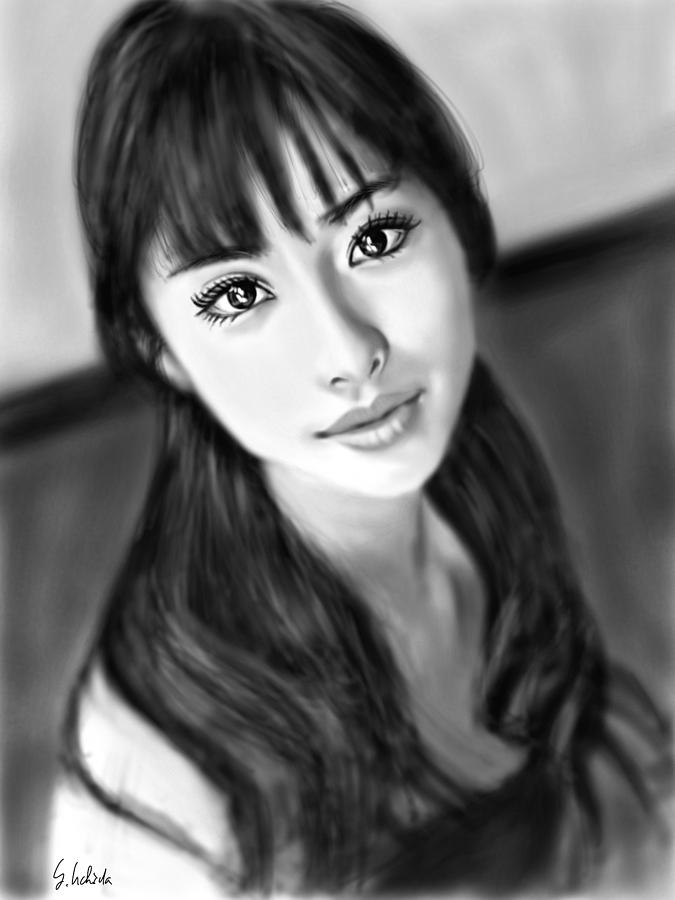 Ipad Painting - Girl No.191 by Yoshiyuki Uchida