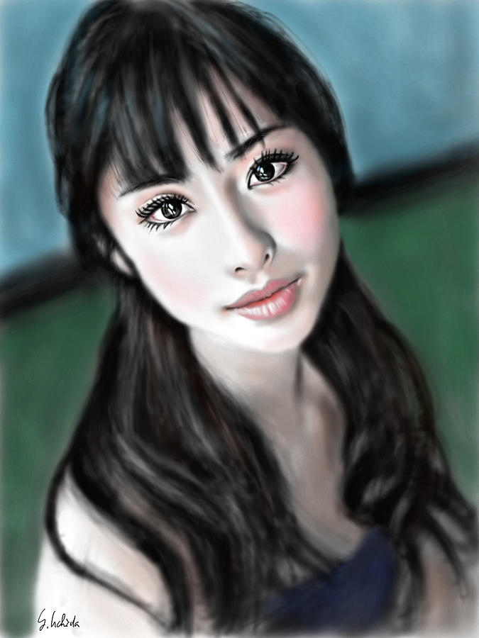 Ipad Painting - Girl No.192 by Yoshiyuki Uchida