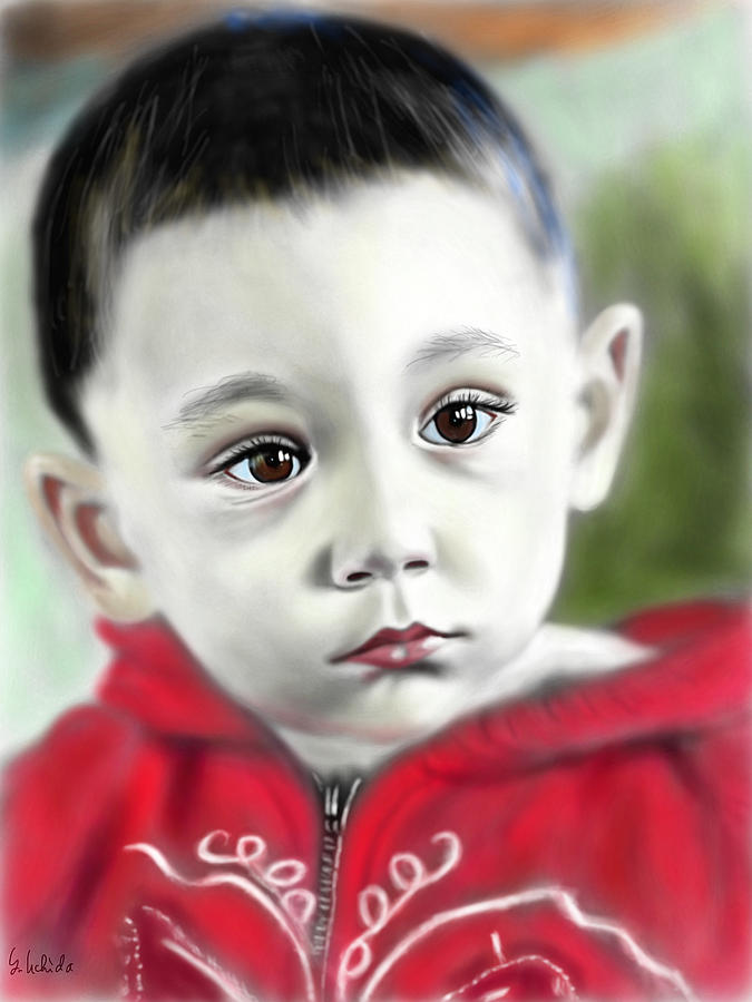 Ipad Painting - Girl No.196 by Yoshiyuki Uchida