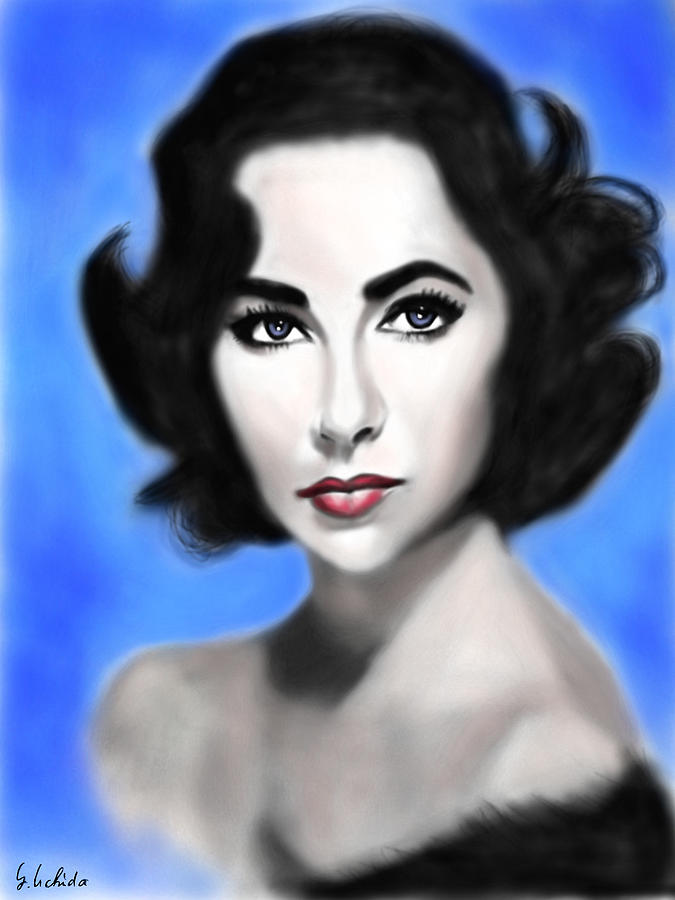 Ipad Painting - Girl No.198 Elizabeth Taylor by Yoshiyuki Uchida