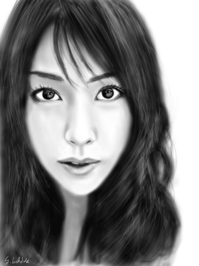 Ipad Painting - Girl No.200 by Yoshiyuki Uchida