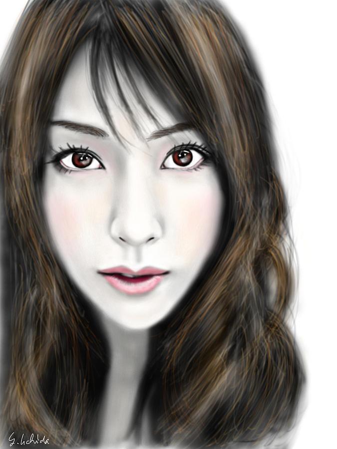 Ipad Painting - Girl No.201 by Yoshiyuki Uchida