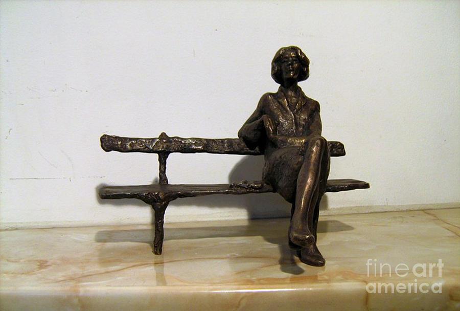 Sculpture Sculpture - Girl On Bench by Nikola Litchkov