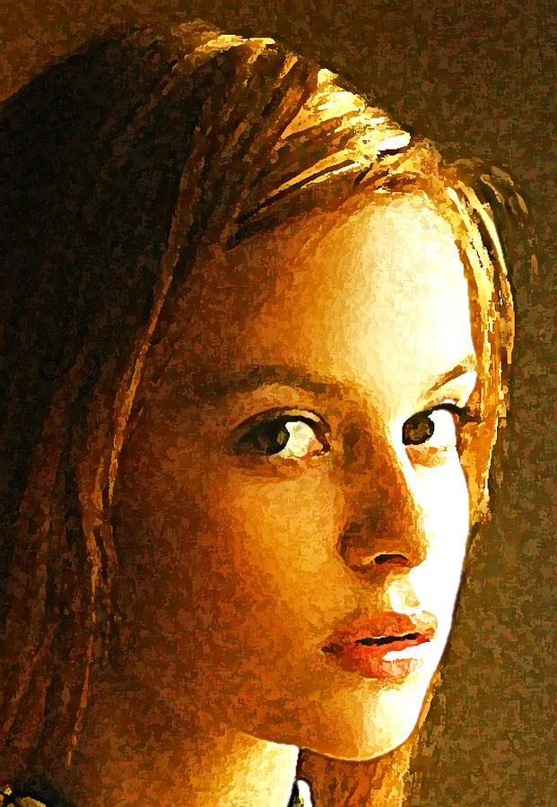 Abstract Painting - Girl Sans by Richard Thomas