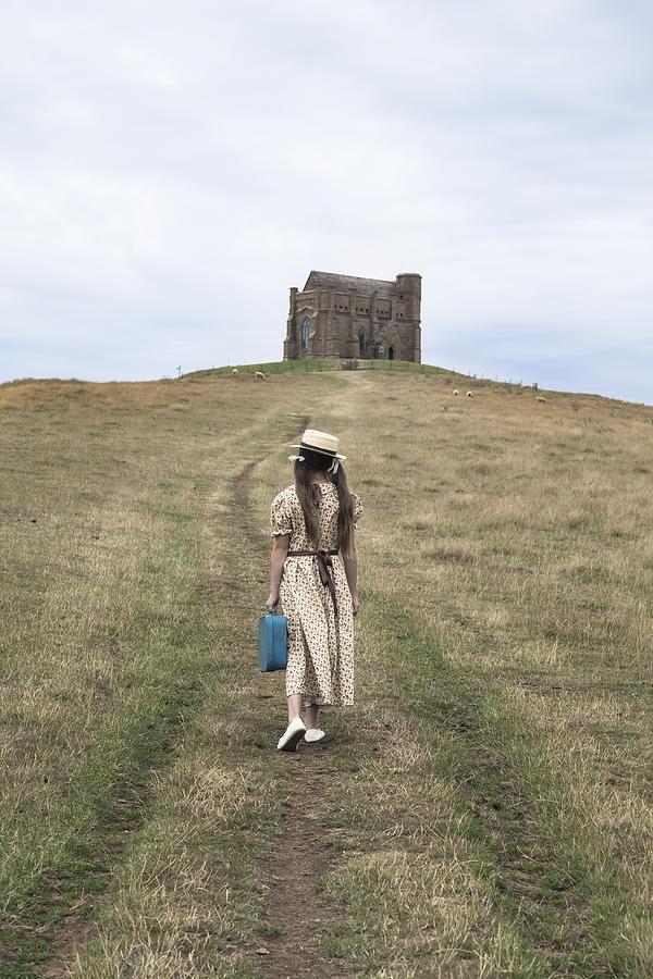 Girl Photograph - Girl Walks To A Chapel by Joana Kruse