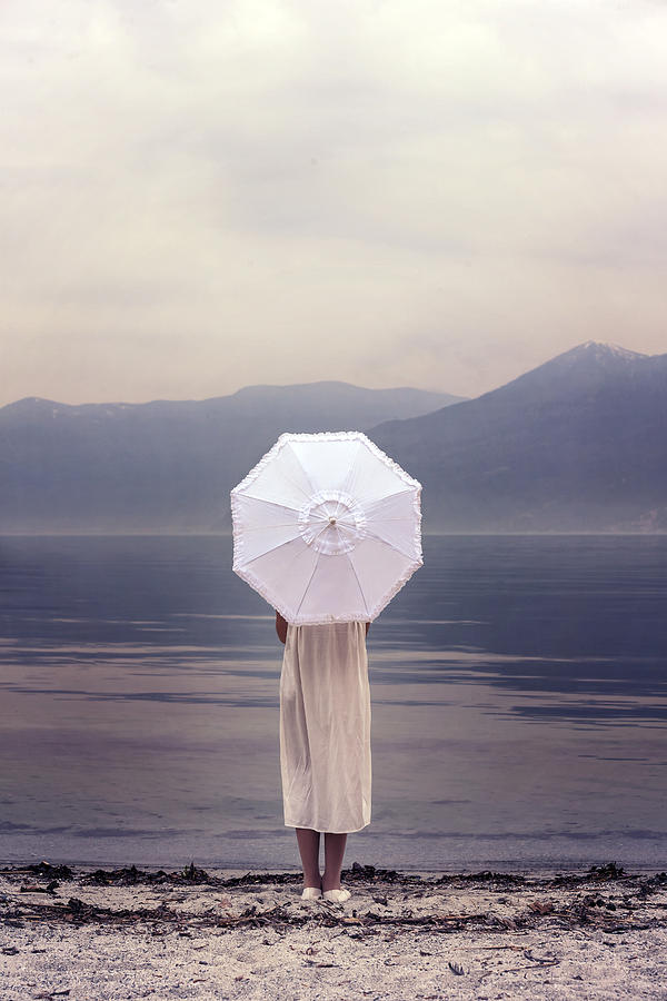 Girl Photograph - Girl With Parasol by Joana Kruse