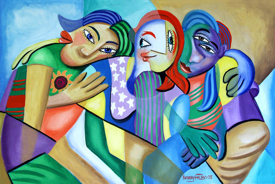Girlfriends Painting - Girlfriends by Anthony Falbo