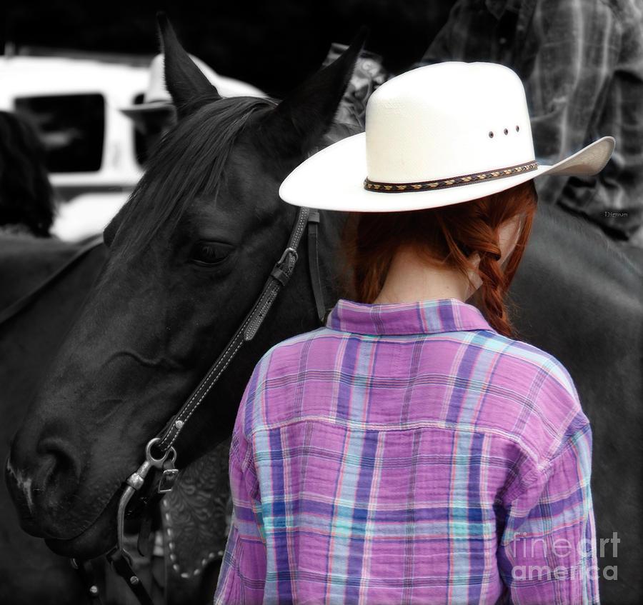 Cowgirl Photograph - Girlfriends  by Steven Digman