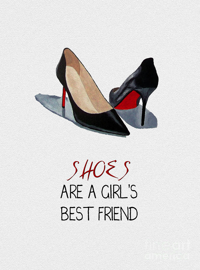 Christian Louboutin Mixed Media - Girls Best Friend by My Inspiration