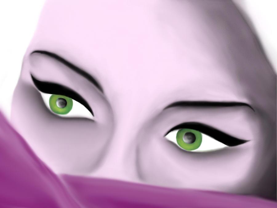 Eyes Digital Art - Girls Eyes by Sara Ponte