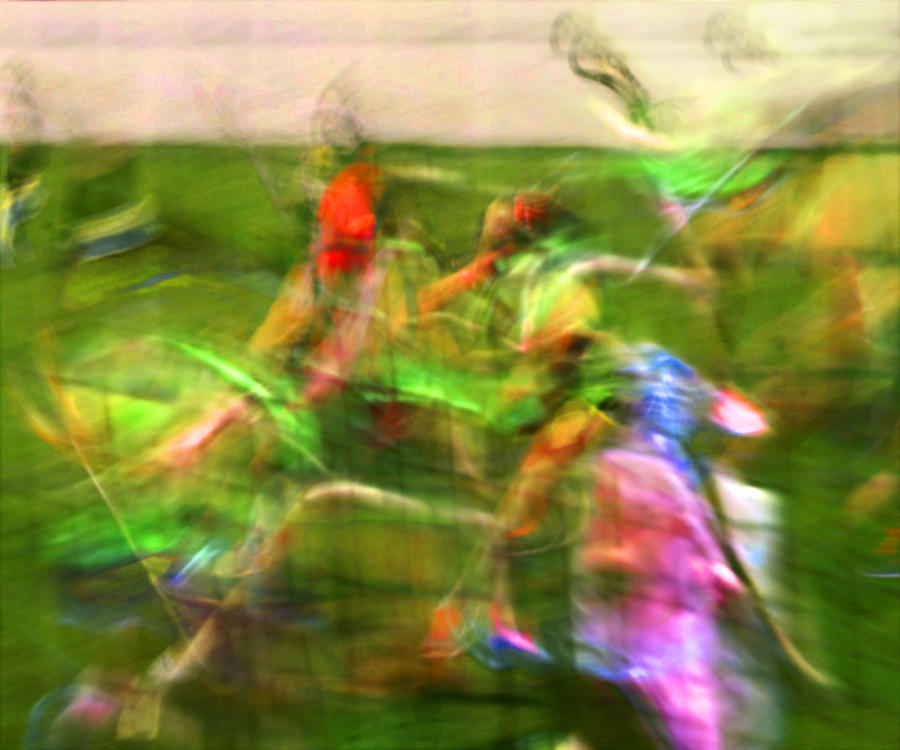 Abstract Photograph - Girls Lacrosse Abstract by Susan Leggett