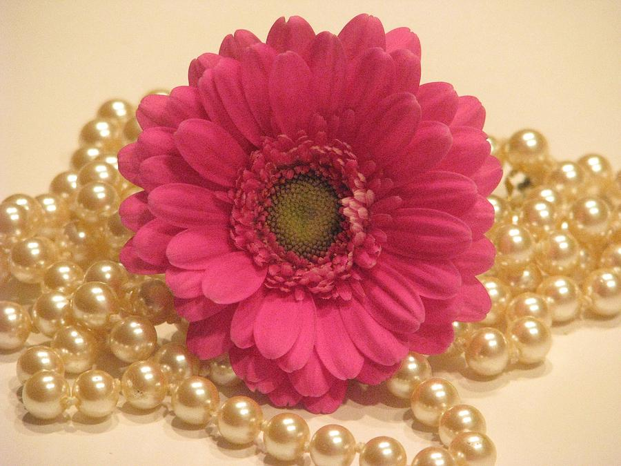Floral Still Life Photograph - Girls Like Pearls by Angela Davies