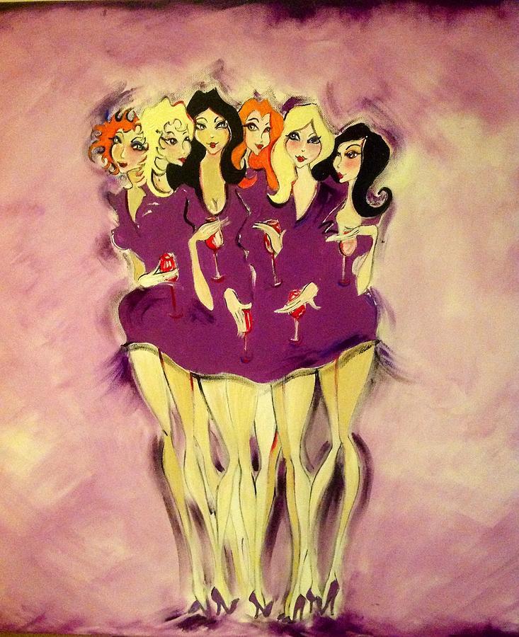 Fun Painting - Girls Night Out by Diane Lane