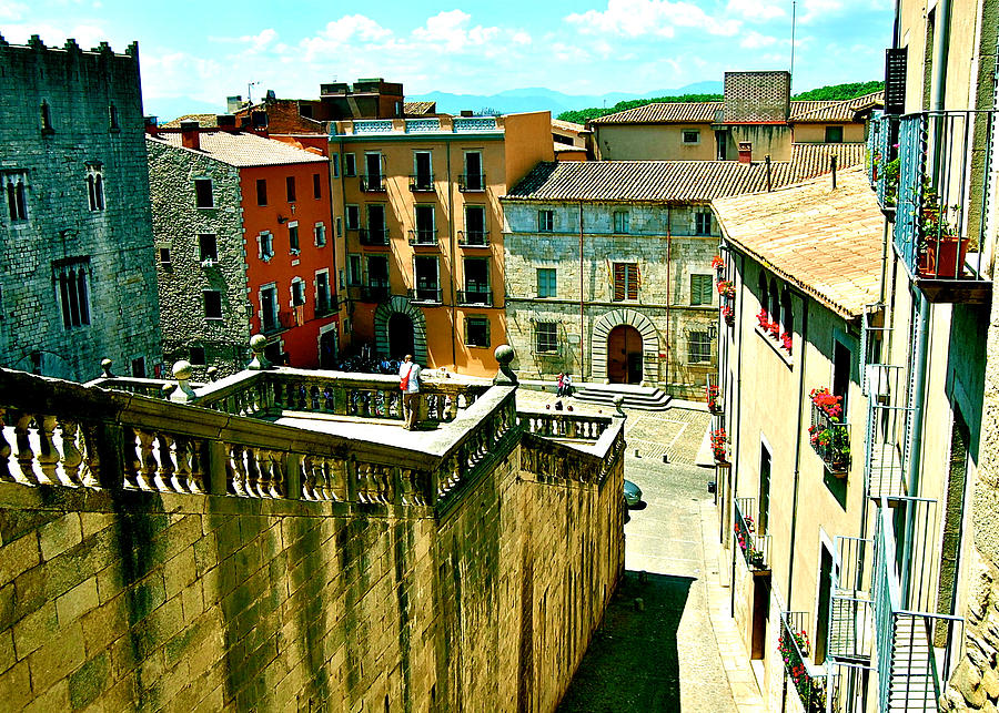 Girona Spain Photograph - Girona Steps by HweeYen Ong
