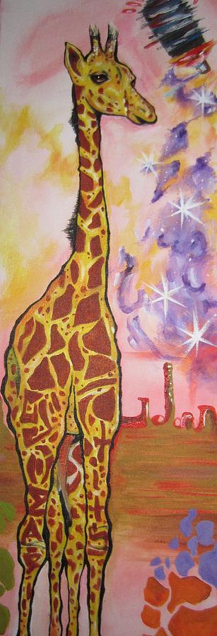 Girraffe Painting - Girraffe by Erik Franco