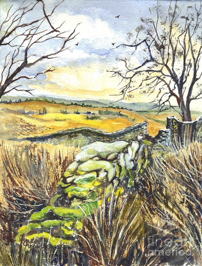 Gisburn Painting - Gisburn Forest Lancashire Uk by Carol Wisniewski