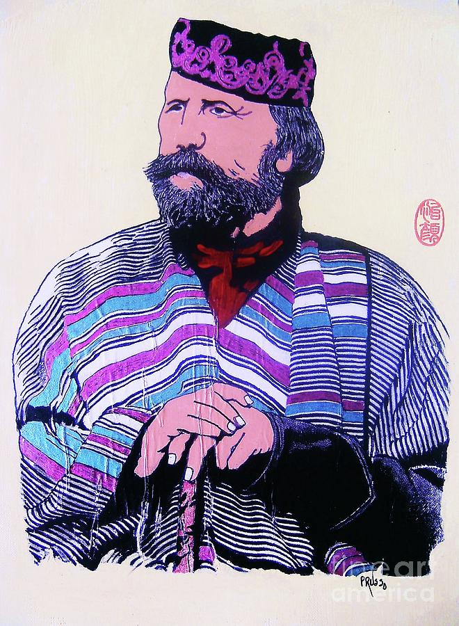 Figurative Painting - Giuseppe Garibaldi by Roberto Prusso