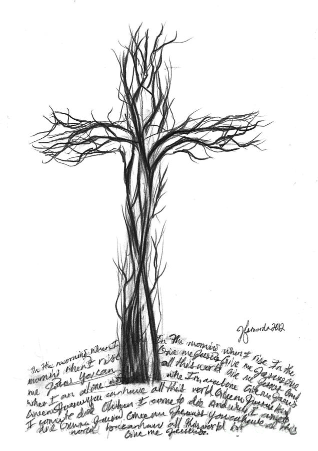 Give Me Jesus Drawing by J Ferwerda