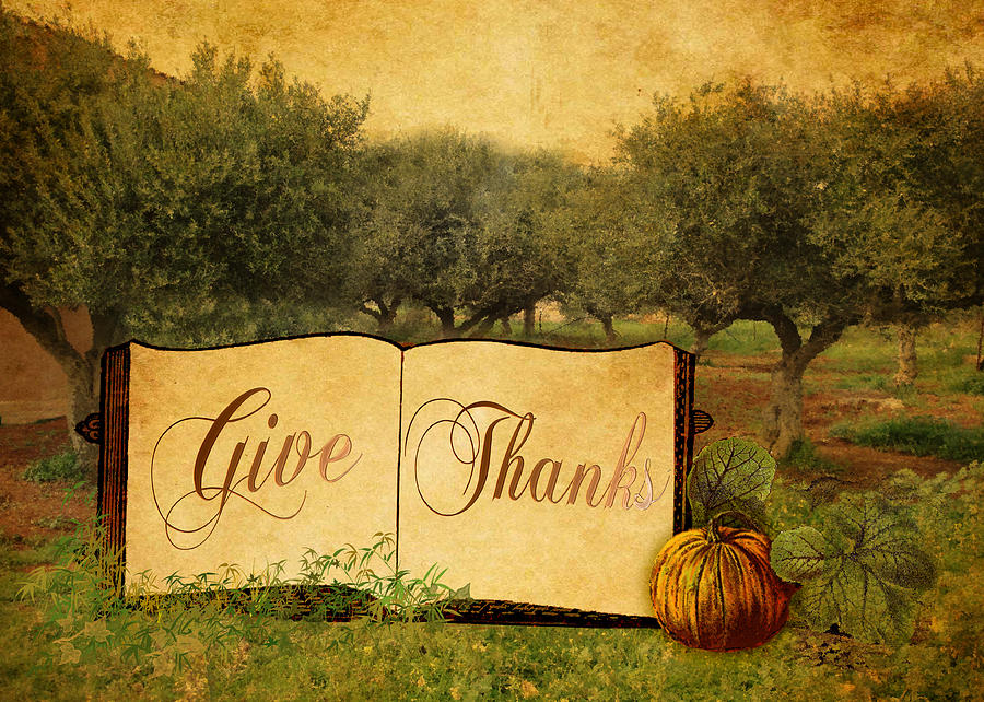 Give Thanks Digital Art - Give Thanks by Sarah Vernon