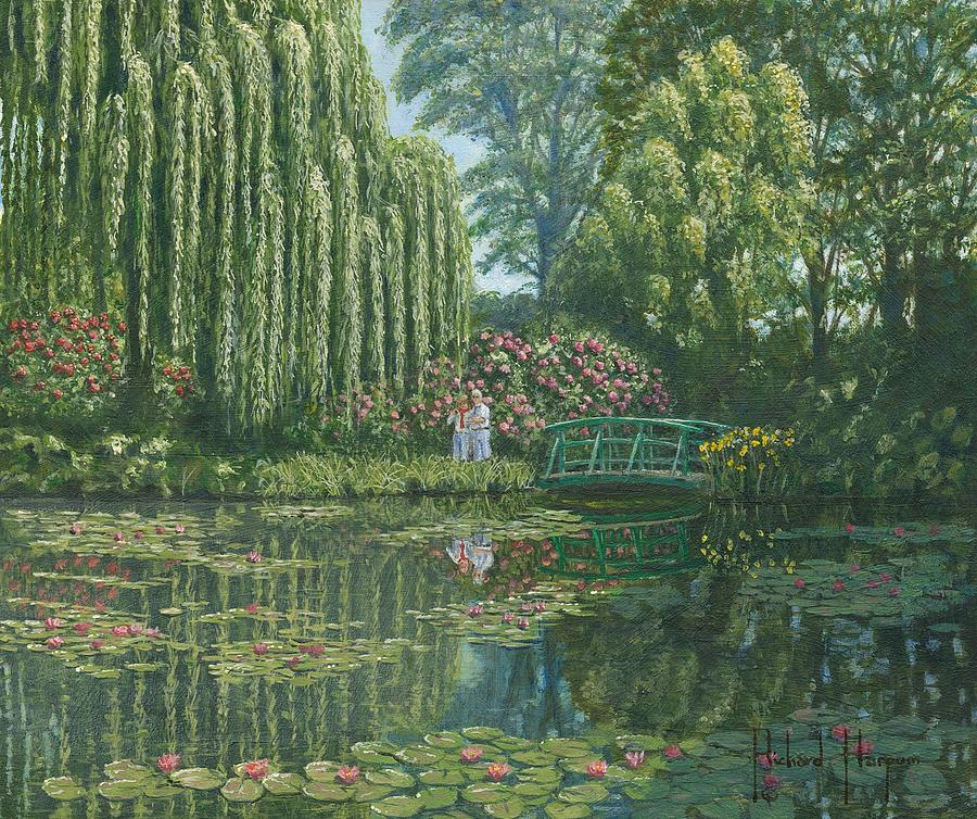 Landscape Painting - Giverny Reflections by Richard Harpum