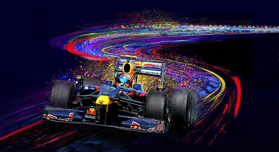 Sebastian Vettel Painting - Gives You Wings by Alan Greene
