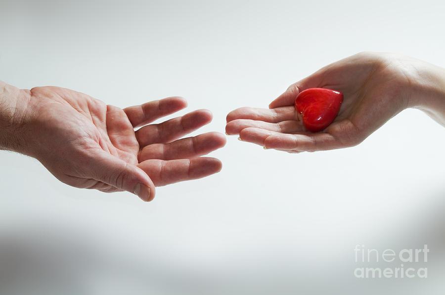 Giving Heart Love Concept Photograph By Michal Bednarek