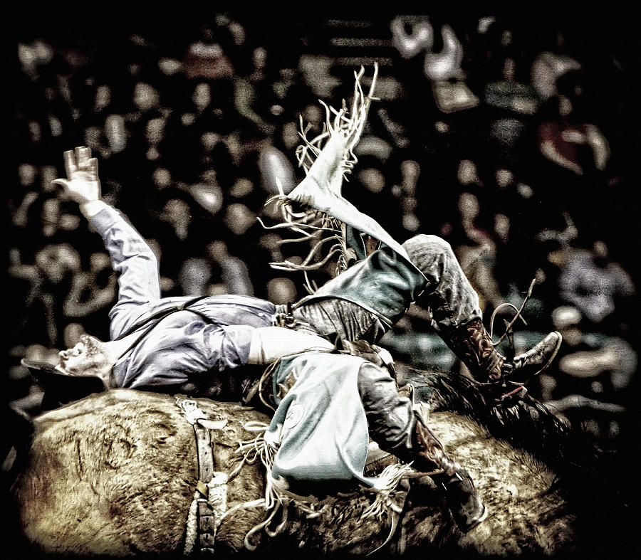 Rodeo Photograph - Giving It Everything by Lincoln Rogers