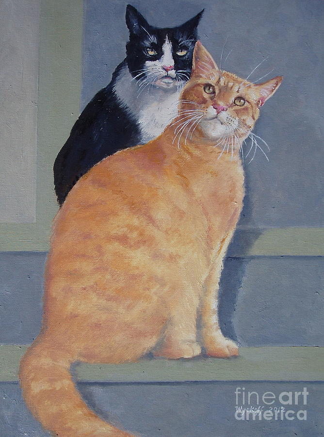 Cats Painting - Gizmo And Haole by Karol Wyckoff