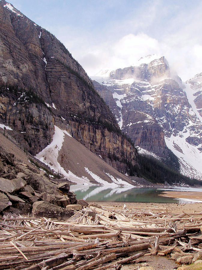 Mountain Photograph - Glacial Debris by Jenny Hudson
