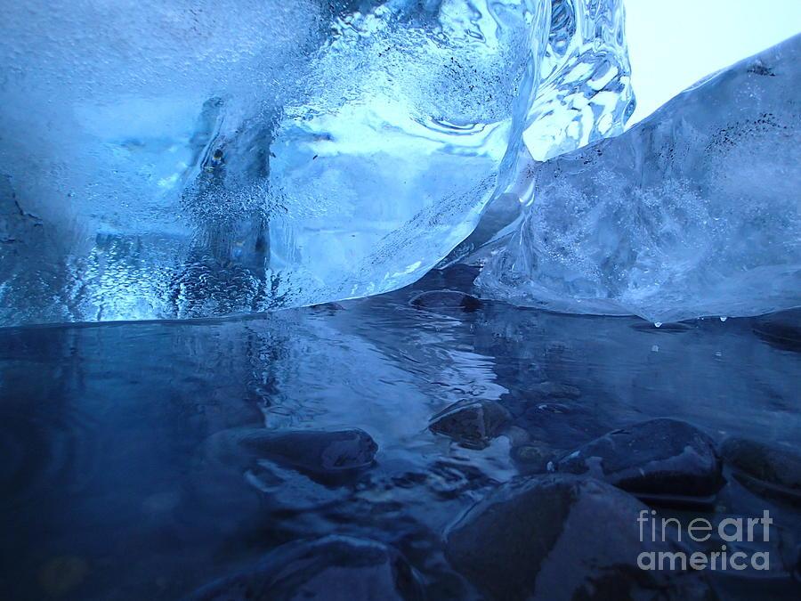 Glacier Photograph - Glacial Ice by AC Hamilton