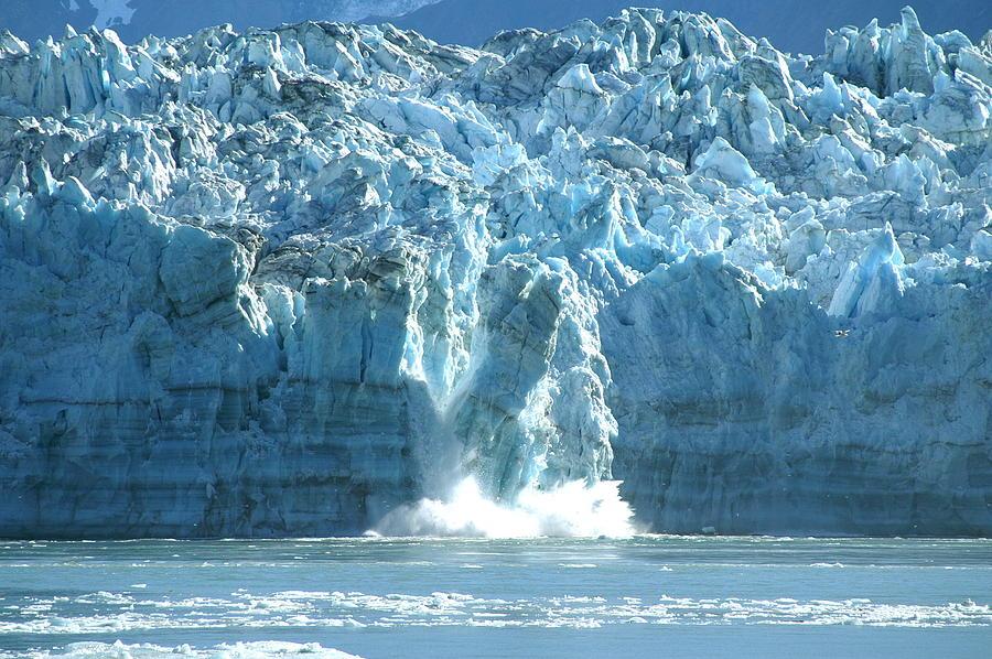 Glacier Photograph - Glacier Calving by Barbara Stellwagen