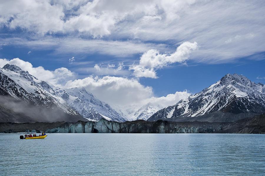 Tasman Photograph - Glacier Explorers by Ng Hock How