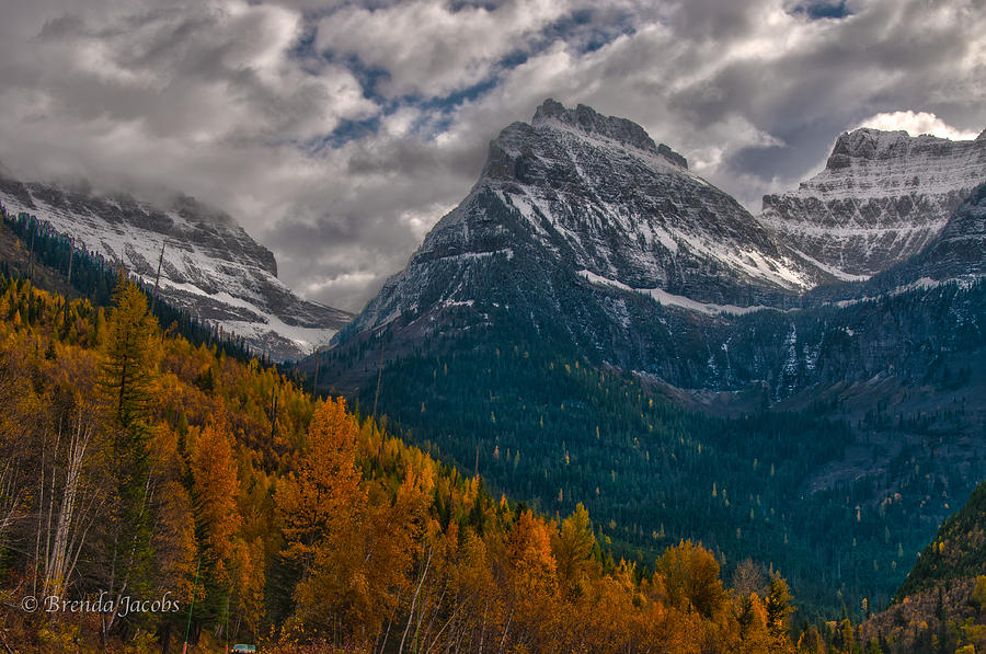Glacier National Park Photograph - Glacier National Park Big Bend by Brenda Jacobs