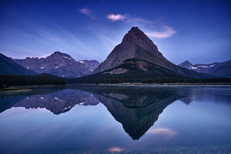 National Park Photograph - Glacier Park Reflection by Andrew Soundarajan