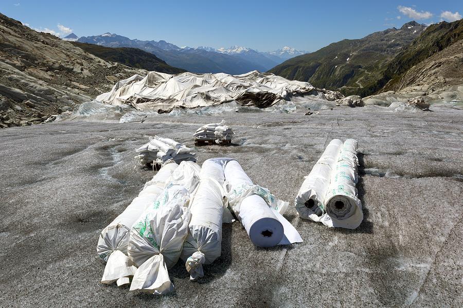 Glacier Photograph - Glacier Protection by Science Photo Library